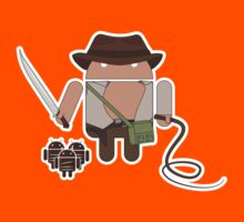 Indiana Jones and the Temple of Droid (No Text) Kids Clothes