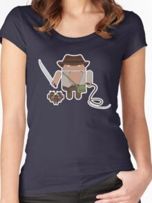 Indiana Jones and the Temple of Droid (No Text) Women's Fitted Scoop T-Shirt