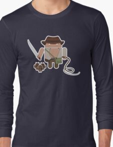 Indiana Jones and the Temple of Droid (No Text) Long Sleeve T-Shirt