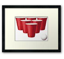 Beer Pong Framed Print