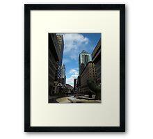 Montreal towards Mount Royal Framed Print