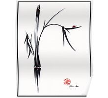"""Gentle Soul"" Chinese japanese ink brush pen painting Poster"