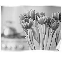 Tulips & Teapot Poster