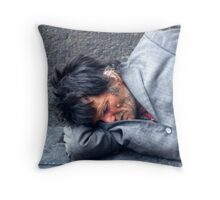 Down and out. Throw Pillow