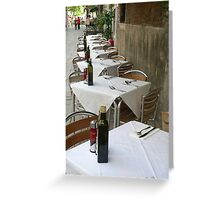 Restaurant Tables, Venice Greeting Card