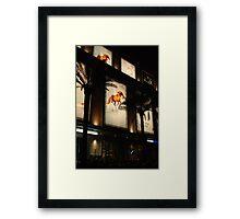 Equine advertising Framed Print