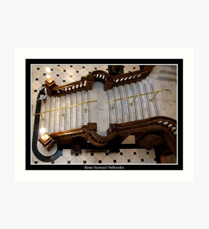 Grand Castle Staircase  Art Print