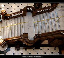 Grand Castle Staircase  by Rose Santuci-Sofranko