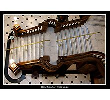 Grand Castle Staircase  Photographic Print