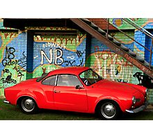 Red Karmann Ghia Photographic Print