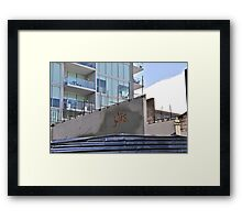 Jules.....was here!  Framed Print