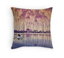 Loch Eck - Grotto Throw Pillow
