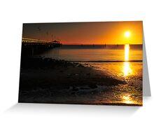 Shorncliffe Jetty at sunrise. Brisbane, Queensland, Australia. Greeting Card