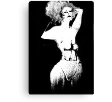 Under the Influence Girl in White Corset Canvas Print