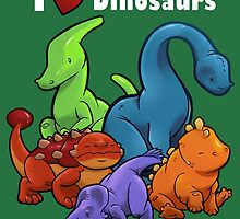 I <3 Dinosaurs! by Jeff Powers Illustration