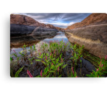 Bloom in the Rock Canal-Wide Canvas Print