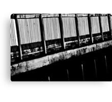 Abstract Black and White Canvas Print