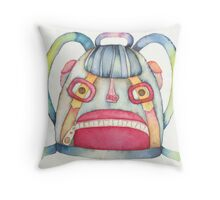 "The backpack scary, illustration of the story ""backpack""  Throw Pillow"