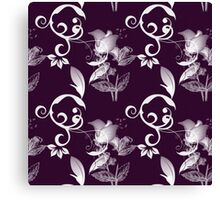 Gorgeous Purple and White Floral Canvas Print