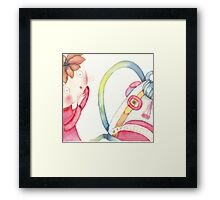 "backpack scary, illustration of the story ""backpack""  Framed Print"