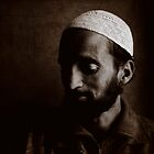 The man in the Srinagar tea house by Jeff Davies