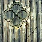 staatsburg barn - old window by greg angus