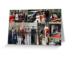 COLLAGE OF THE ROYAL WEDDING  Greeting Card