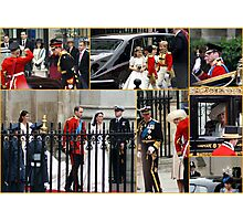 COLLAGE OF THE ROYAL WEDDING  Photographic Print