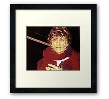 Tom Baker (as Doctor Who) waxwork at Madame Tussauds  Framed Print