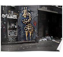 Giraffe in a grotto Poster