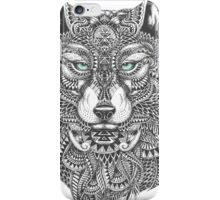 Very Intricate Wolf Illustration iPhone Case/Skin