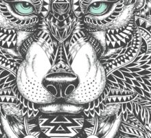 Very Intricate Wolf Illustration Sticker