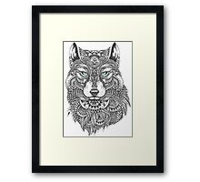 Very Intricate Wolf Illustration Framed Print