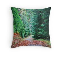 Green forest  Throw Pillow