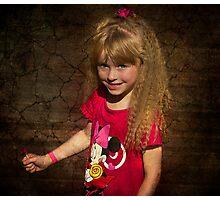 Lollypop Lass Photographic Print