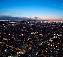 City Lights to the North-West At Dusk by Gary Chapple