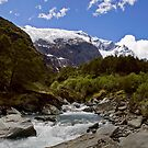 Glacial Stream Panorama by Will Hore-Lacy