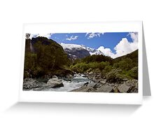 Glacial Stream Panorama Greeting Card