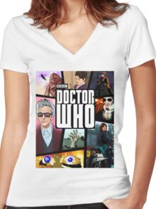 Doctor Who Series Nine Women's Fitted V-Neck T-Shirt
