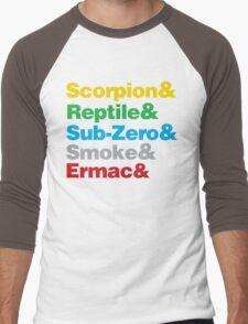 Mortal Kombat Beatles Parody shirt Men's Baseball ¾ T-Shirt