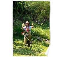 Is the gardener working???? Poster