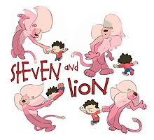 Steven and Lion. by wardengrey