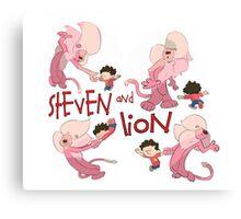 Steven and Lion. Canvas Print