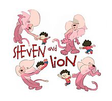 Steven and Lion. Photographic Print