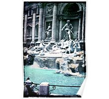 Trevi Fountain - Rome 1968 Poster