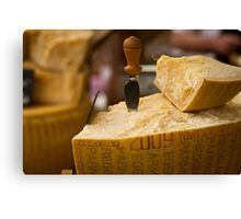 A slice of parmesan cheese Canvas Print