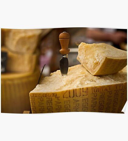 A slice of parmesan cheese Poster