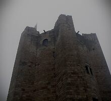 Conisbrough Castle in the mist by ANDREW BARKE