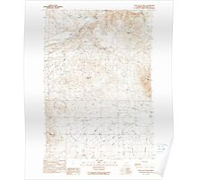 USGS Topo Map Oregon Cow Valley West 279466 1990 24000 Poster