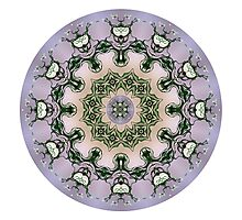 circle purple mandala Photographic Print